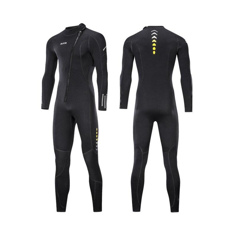 ZCCO 3 مللي متر النيوبرين بذلة للرجال والنساء الغوص دعوى العميق spearfishing الحرارية ملابس السباحة الغوص تصفح قطعة واحدة مجموعة