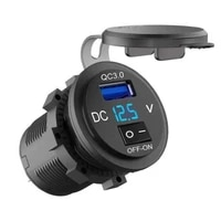 12v24v dual usb charger socket waterdichte qc3 0 dual usb snelle autolader socket power adapter outlet voor auto boot