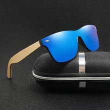 Retro Wood Rainbow Membrane Sunglasses Men Bamboo Sunglass Women Brand Design Sport Goggles Sun Glasses Shades