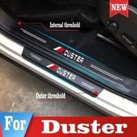 for renault duster car stickers door sill trunk threshold guard scuff guard plate guard pedal cover trim styling accessories