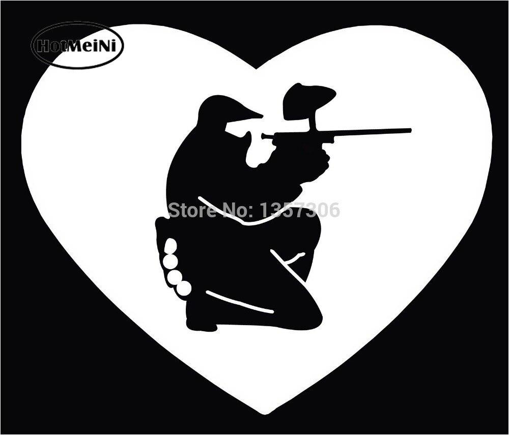 Hotmeini venda quente pintura paintball funil máscara arma ajoelhado janela do carro adesivo decalque do vinil 9 cores