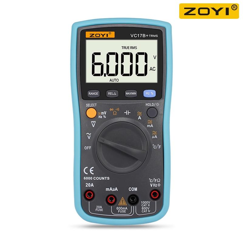 ZOYI VC17B + Digital Multimeter TURE RMS Auto Range Volt Meter Tester Temprature Kontinuität Tester