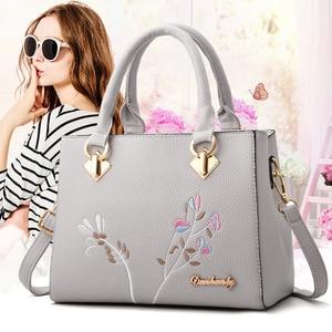 Women 2021 New Vintage Handbag Casual Tote Fashion Embroidery Messenger Bags Shoulder Top-Handle Purse Wallet Leather bolsos