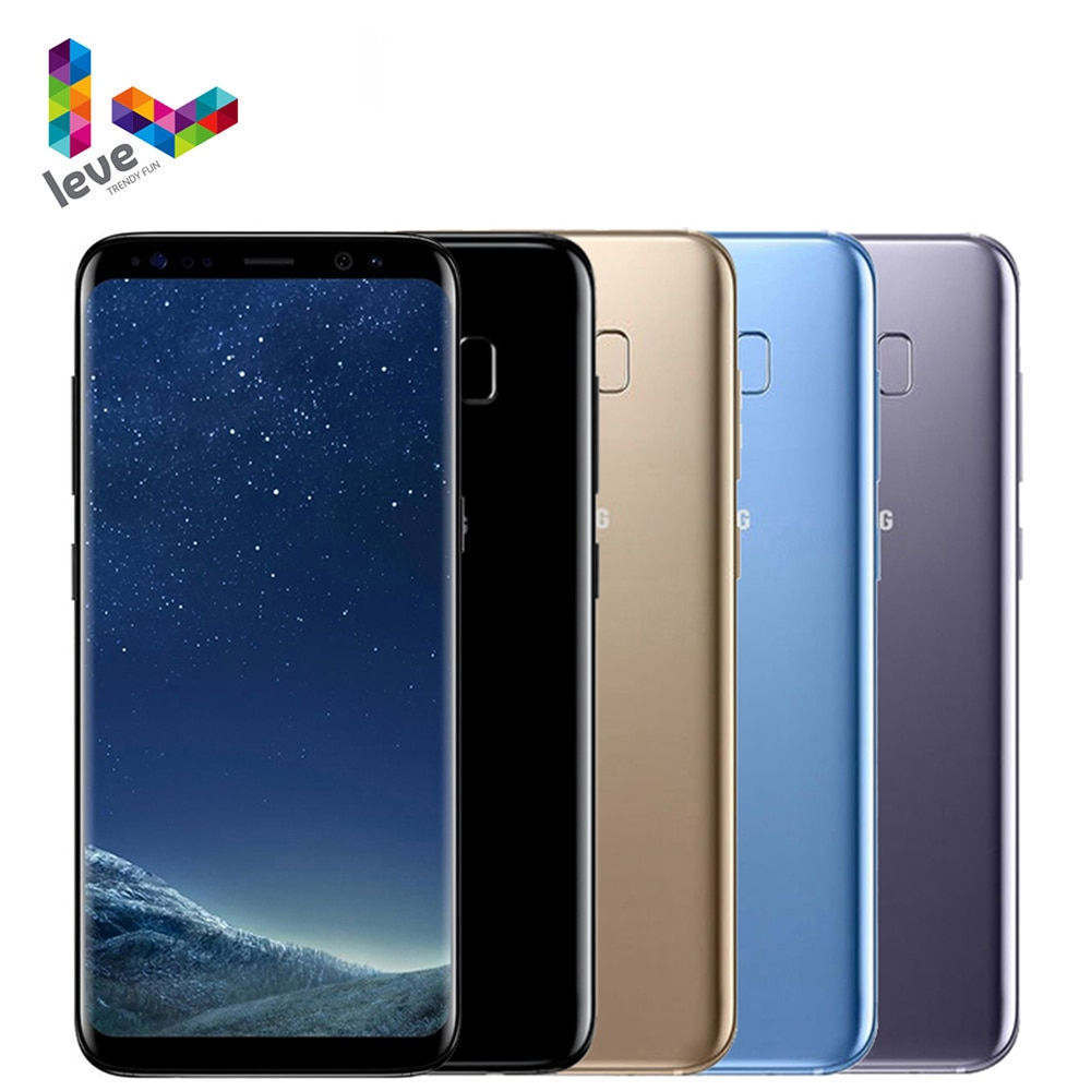"Unlocked Samsung Galaxy S8 G950 Snapdragon 835 Mobile Phone 5.8"" 4GBRAM 64GB ROM Octa Core Fingerprint 4G LTE Android Smartphone"