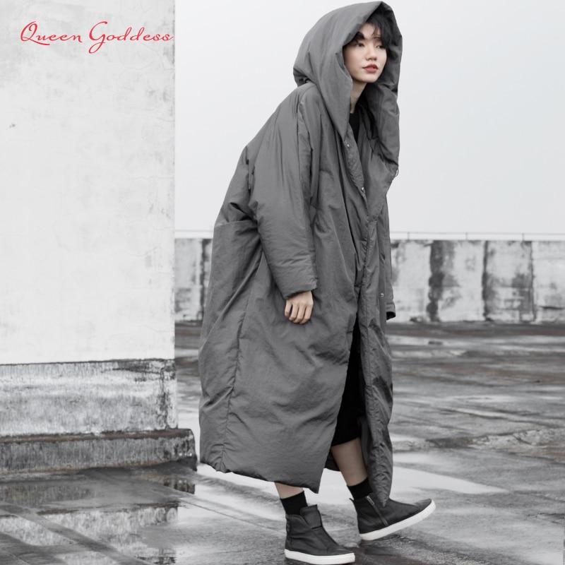 Женская зимняя длинная пуховая куртка, теплое пальто, женская одежда, размера плюс пуховик 90, парки с капюшоном, повседневная верхняя одежда