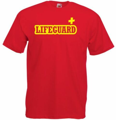 Camiseta lifeguard elegante vestido de fiesta playa Cruz amarillo hombres baywatch LIFEGUARD2 verano Camisetas de manga corta Tops S ~ 3Xl