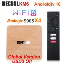 Mecool KM6 Deluxe Edition Amlogic S905X4 TV Box Android 10 4GB 64GB Wifi 6 Google Certified Support