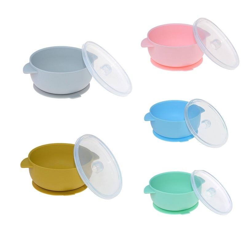 Детская присоска, силиконовая посуда для кормления, мягкая крышка, посуда для кормления, Детская вспомогательная посуда для малышей, Высоко...