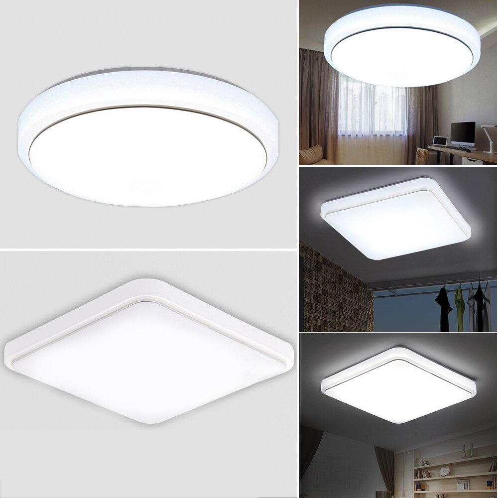 24W LED Ceiling Light Bright White Flush Mount Round Livingroom Panel Lamps For Home Corridor Balcony Decoration Lighting