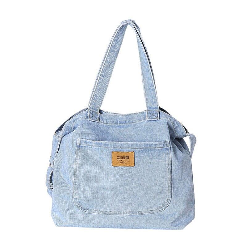 Nuevos bolsos de tela vaquera cruzados para Mujer, pantalones vaqueros de lona, bolsos de mano grandes, bolsos de viaje, bolsos de Mujer