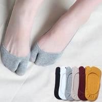 women two toe socks summer anti slip shallow mouth invisible socks no show socks non slip women silicone ultra thin boat socks
