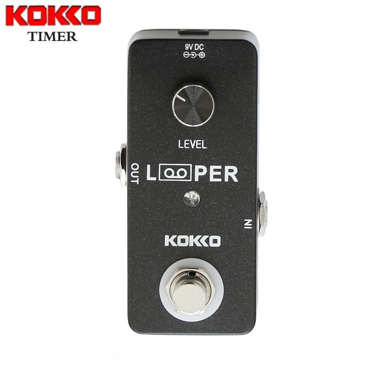 KOKKO lazo MINI Looper SOS guitarra bucle Pedal de efectos Looper 5 minutos bucle de tiempo estación profesional de la guitarra FLP2