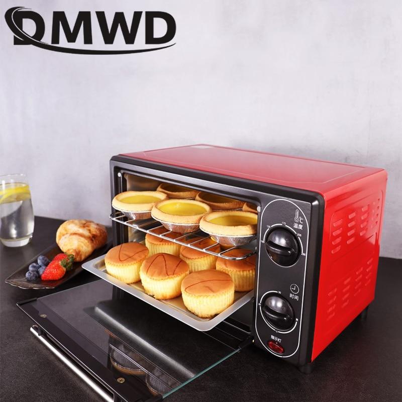 Mini forno 12l multifuncional casa forno elétrico durável mini sincronismo inteligente cozimento/frutas secas/churrasco pão de cozimento