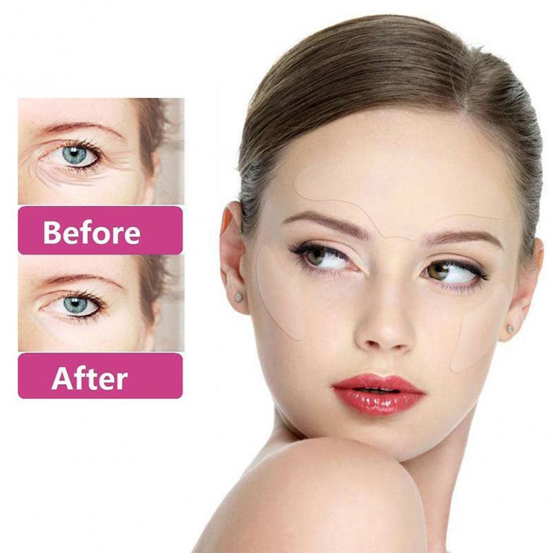 3 uds almohadillas antiarrugas para ojos/Frente de silicona reutilizable para levantar la cara durante la noche antienvejecimiento para eliminar las arrugas TSLM2