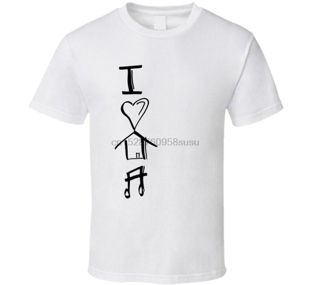 Amo la camiseta de música de casa