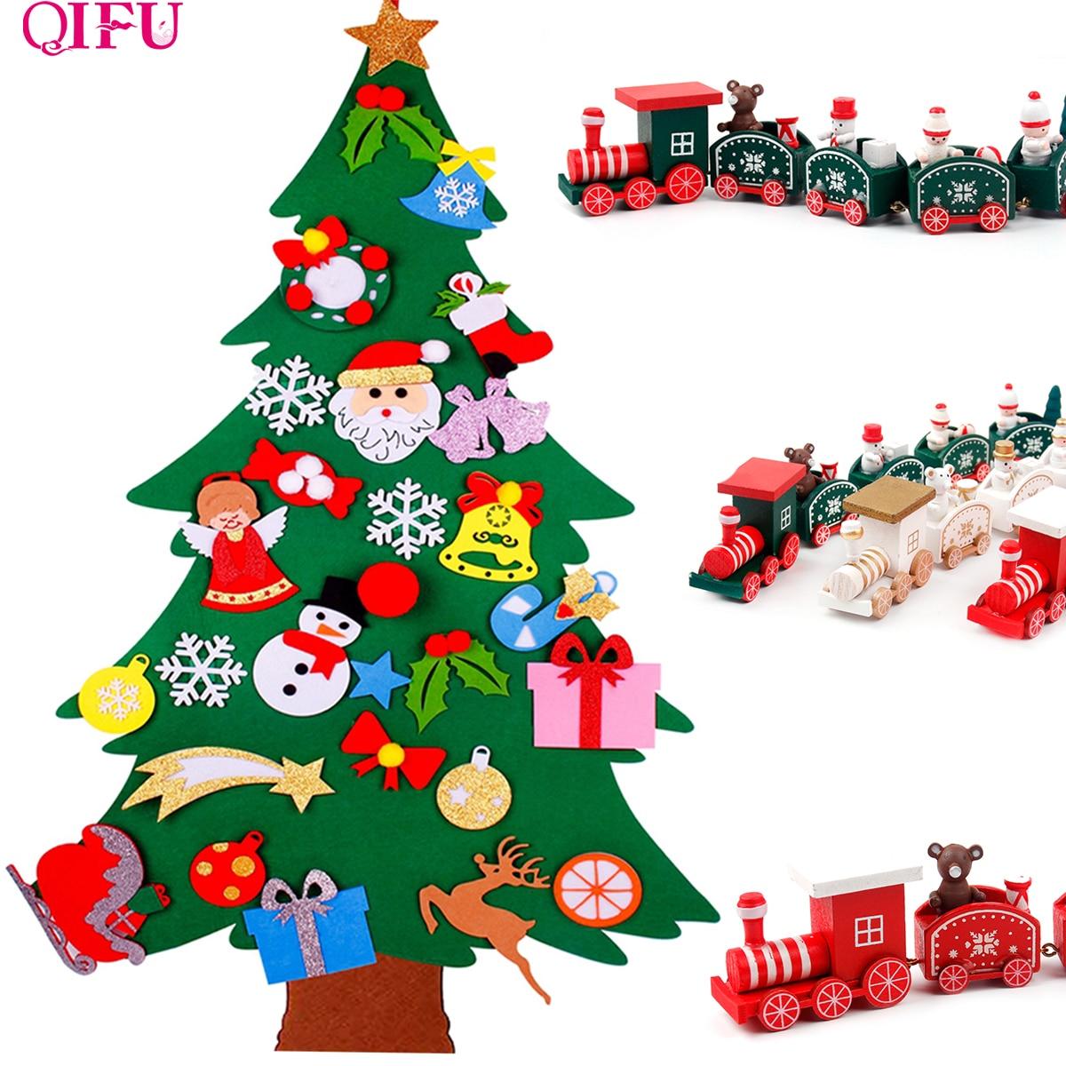 3D DIY cónico fieltro regalo de Navidad para niños Cristmas adornos de decoración de Navidad adornos navideños para el hogar Año Nuevo deco Noel