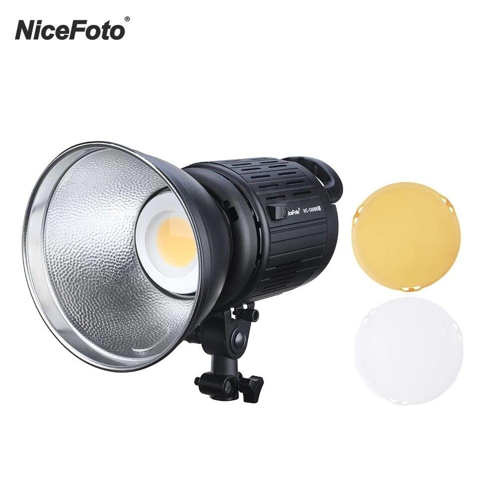 Nicefoto HC-1000BII 100w 3200k/5500k CRI95 + النهار Cob Led فيديو ضوء بلوتوث + 2.4g التحكم عن بعد مع اللون مرشحات