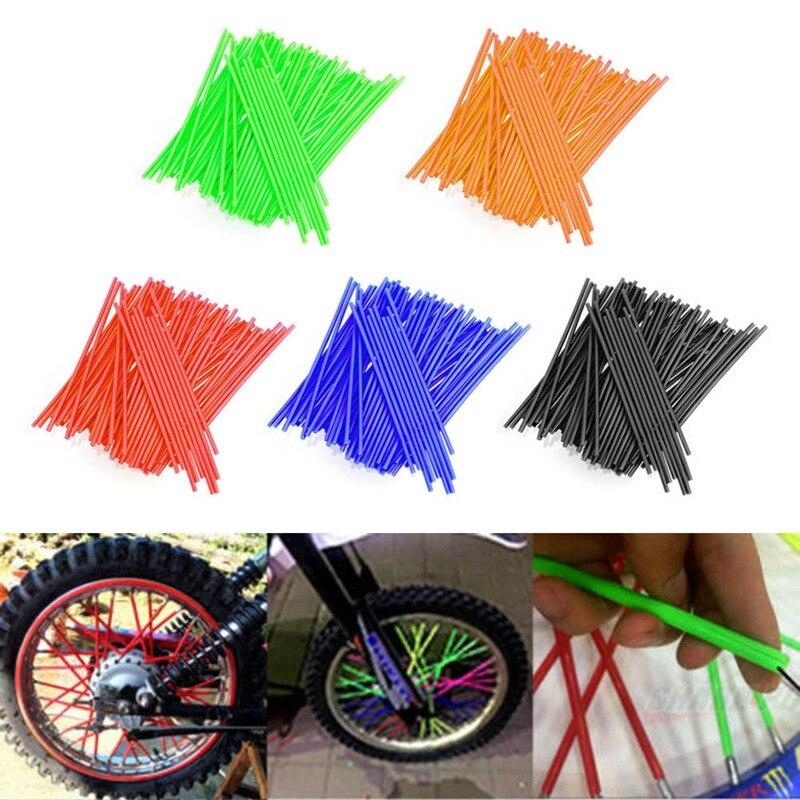 72 pçs universal motocicleta roda da bicicleta jantes raios acessórios da motocicleta roda fio decorativo colorido legal mortalhas cobre