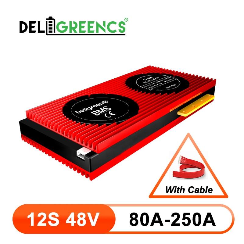 بطارية ليثيوم أيون 12S BMS 80A 100A 120A 150A 200A 250A 48 فولت PCM/PCB/BMS لبطارية 3.7 فولت 50.4 فولت حزمة بطارية ليثيوم أيون 18650