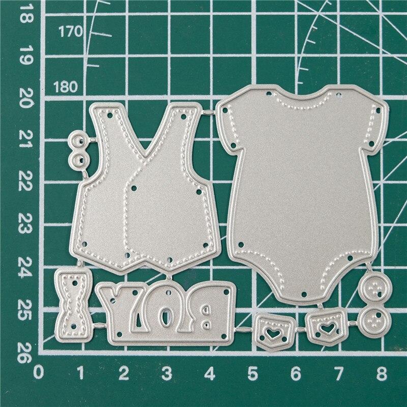 Diyarts mais recente bebê roupas de corte metal dados carta diy scrapbooking para cartão de fazer papel álbum artesanato estêncil modelos molde