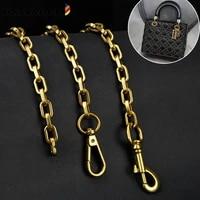diy handbag bag chain strap bamader thick chain bag straps for shoulder crossbody bags metal shain parts vintage goldgunsilver