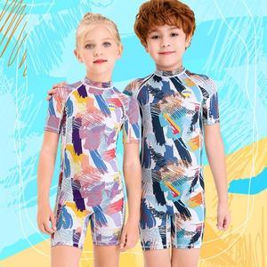 Girl Boy Elastic Breathable Spandex Children One-piece Monokini Kids Swimsuit Swimming Equipment Children Beach Suit Gift