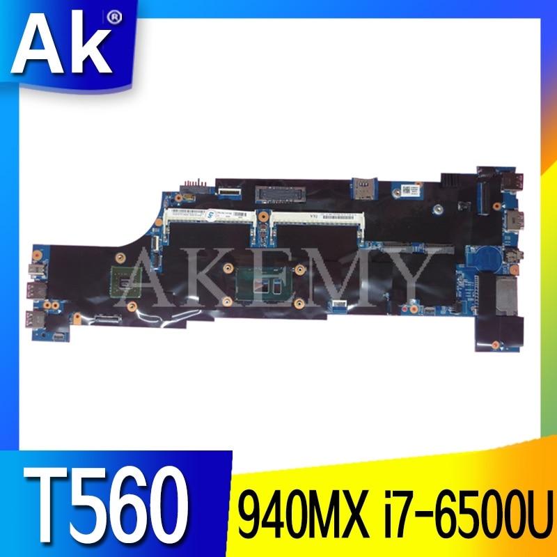 Akemy 01AY341 01AY460 Motherboard For Lenovo ThinkPad T560 W560S P51S P50S Laotop Mainboard with 940MX i7-6500U