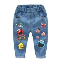 Брендовые детские брюки с рисунком; Модные брюки; Джинсы для девочек; Детские джинсы для мальчиков; Модные детские джинсы; Одежда для младен...