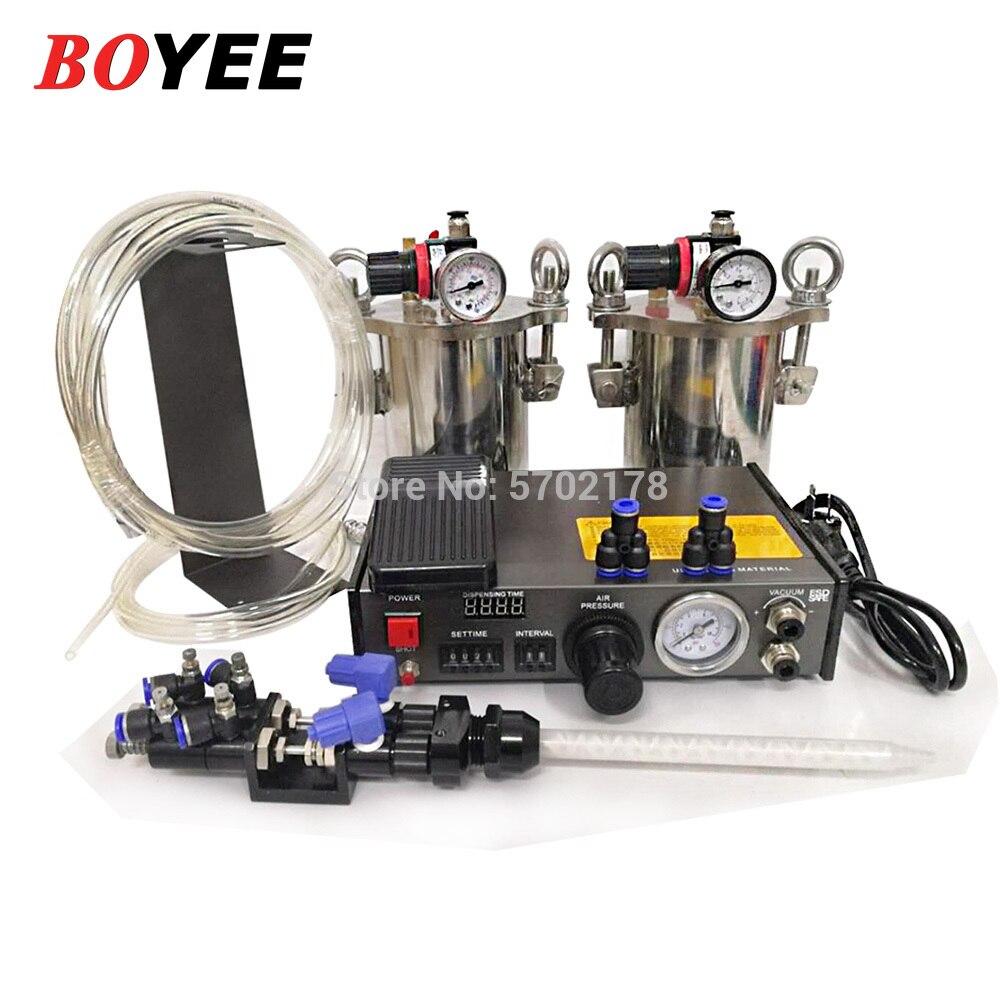آلة توزيع صمام توزيع السوائل المزدوجة ، مجموعة كاملة من معدات التوزيع ، موزع غراء AB