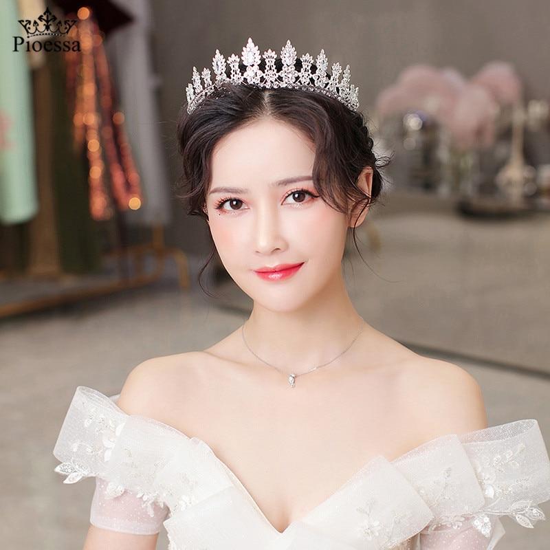 Pioessa increíble de la Reina Tiara diadema retro boda coronas joyería nupcial...