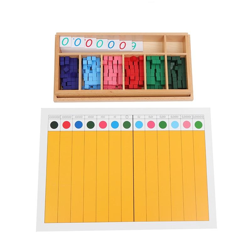 Материалы по математике Монтессори, десятичные кубики и доски, детские математические игрушки, оборудование для раннего образования для на...
