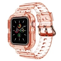 colorful transparent watch band for apple watch replacement strap suitable 42mm 44mm for apple watch series 4 5 6 se