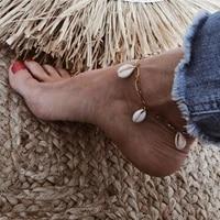 letapi bohemian natural shell rope anklets for women foot jewelry summer beach barefoot bracelet ankle on leg for women