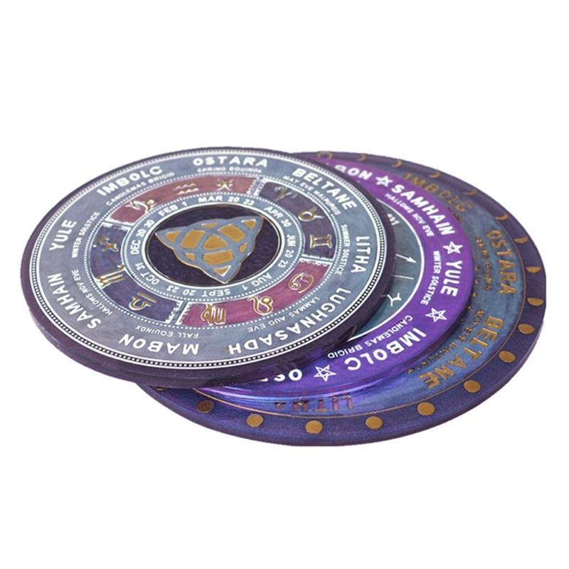 DIY Astrology Board Resin Mold The Sun Moon Star Tarot Card Tray Witchcraft