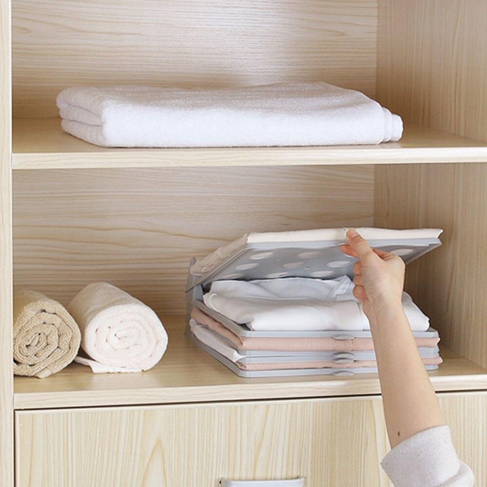 SOLEDI PP conveniente ropa carpeta organizador, tablero acuerdo camisa económico tablero plegable hogar armario camiseta pijama de