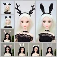 11 5 fashion plastic animal ear hairpin tiara for barbie doll accessories hair hoop headwear hairwear kids 16 dollhouse toys