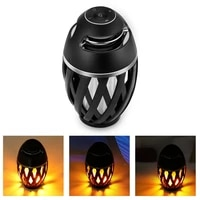 bluetooth compatible portable wireless led flame light loudspeaker outdoor player with led flame torch light flicker light