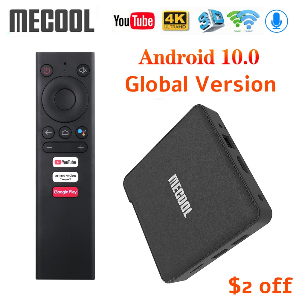 Mecool KM1 Deluxe ATV Google Certified Android 10 TV Box Amlogic S905X3 Androidtv Prime Video 4K Dua