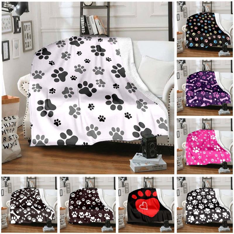 جرو باو طباعة بطانية أريكة سرير بطانية دافئ فائق النعومة غطاء بطانية الفانيلا رمي بطانية