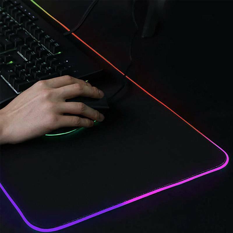 Universal Grande Colorido Iluminação Gaming Mouse Teclado Pad pc uk Portátil Rgb Led