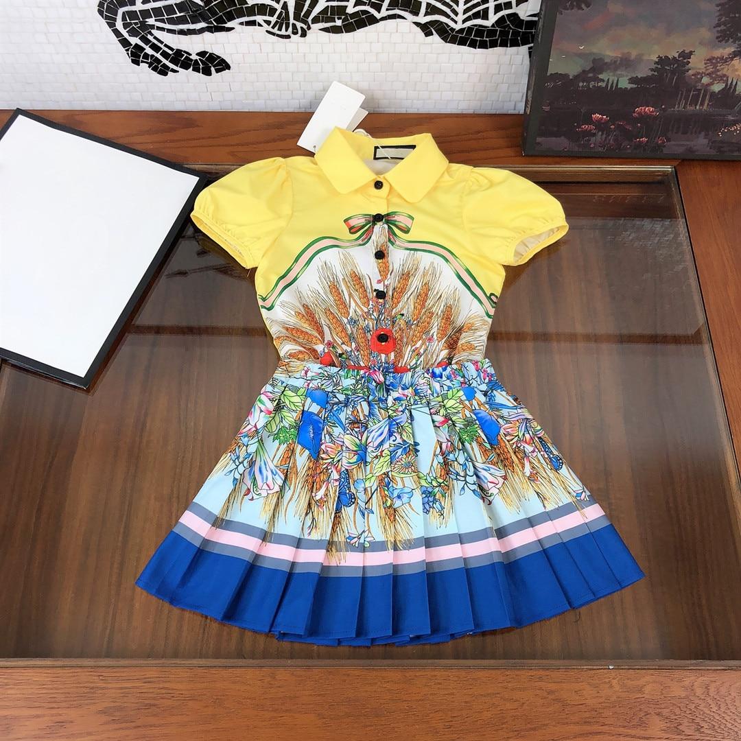 high end roupas infantis ternos camisas para meninas verao criancas de manga curta