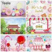 yeele donuts sweet girl newborn baby birthday candy fruit shop backdrop photography photographic background for photo studio
