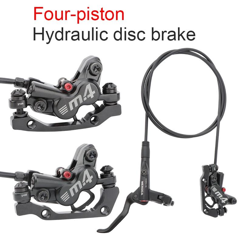 Shimano-Freno doble De cuatro pistones para bicicleta VTT, piezas hidráulicas De Freno...