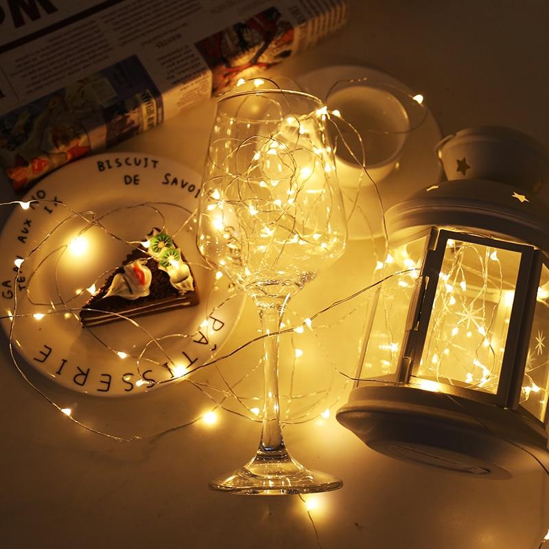 2m 5m 10m LED-uri cu șiruri de sârmă de argint ghirlande de - Luminări festive - Fotografie 6