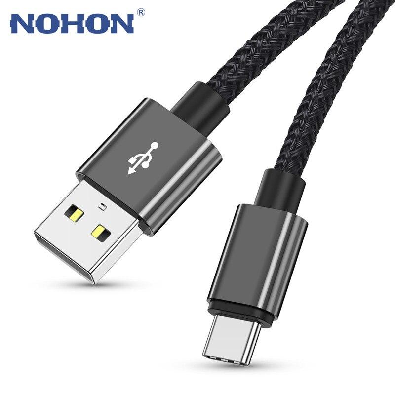 1, 2, 3 m USB Cable de tipo C para Samsung Xiaomi Redmi Note 7 8 10 3A de carga rápida Cable cargador de teléfono móvil with origen Cable