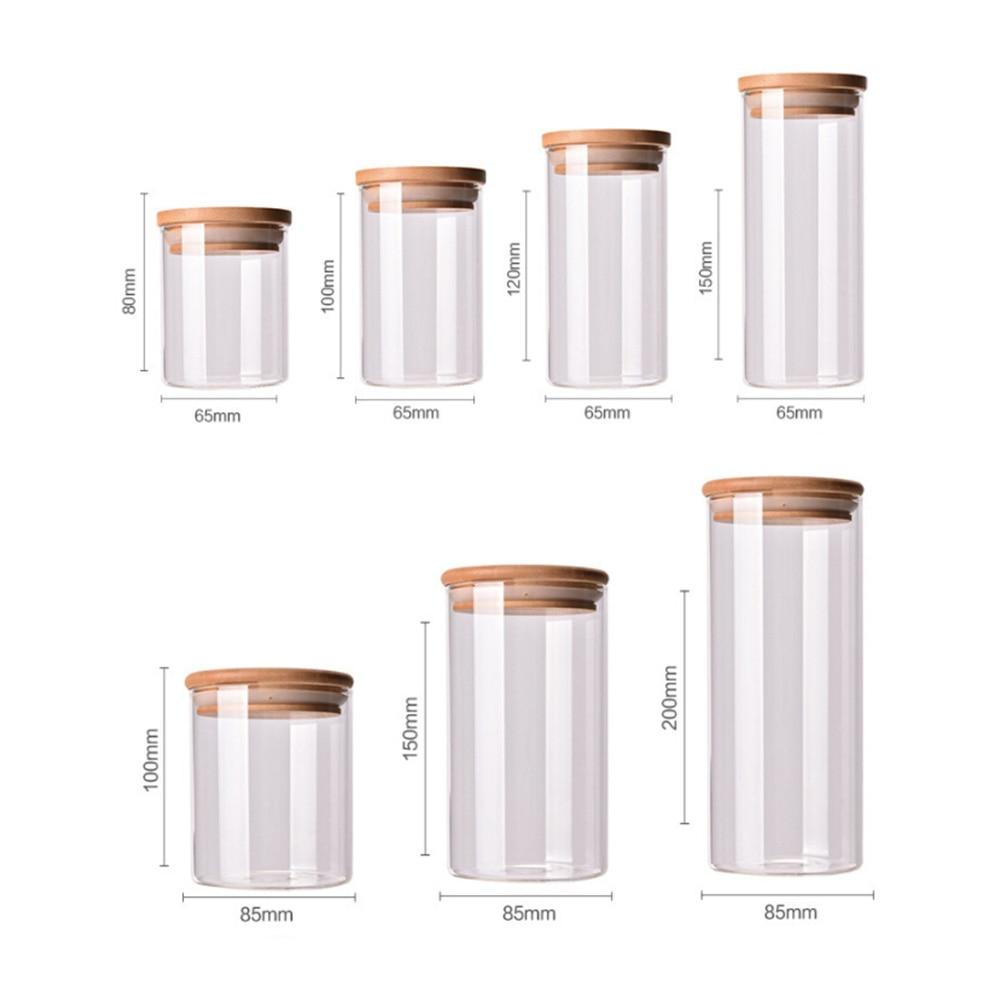 Стеклянная банка, герметичные банки с крышкой, кухонные бутылки для хранения продуктов, каменные банки для специй, контейнер для хранения конфет, чайная коробка, кухонная банка для хранения
