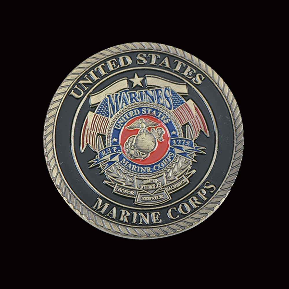 United States Marine Corps US Gold Coins Collectibles For Business Gifts