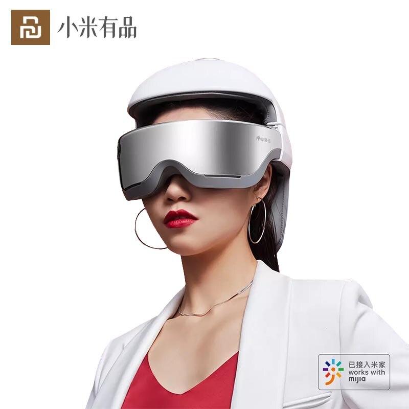 Get Youpin Momoda Head Massager Helmet Smart Head Eye Nack Massager 3 In1 Electric Massage Helmet Health Care