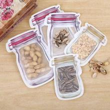 Reusable Snack Bag Freezer Hermetic Food Storage Bag Food Seal Bottle Cans Kitchen Organizer Mason Jar for Travel Storage