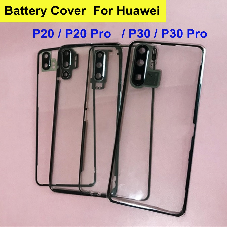 For Huawei P30 Pro Battery Cover Rear Glass Transparent Clear Housing Case For Huawei P30 P20 Pro Battery Cover